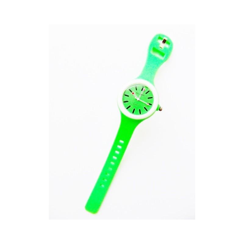 Okrągły zielony zegarek