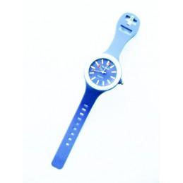 Niebieski zegarek silikonowy okrągły