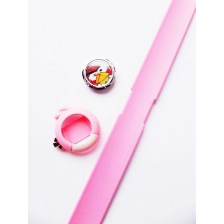 Silikon pink Armbanduhr Angry Birds