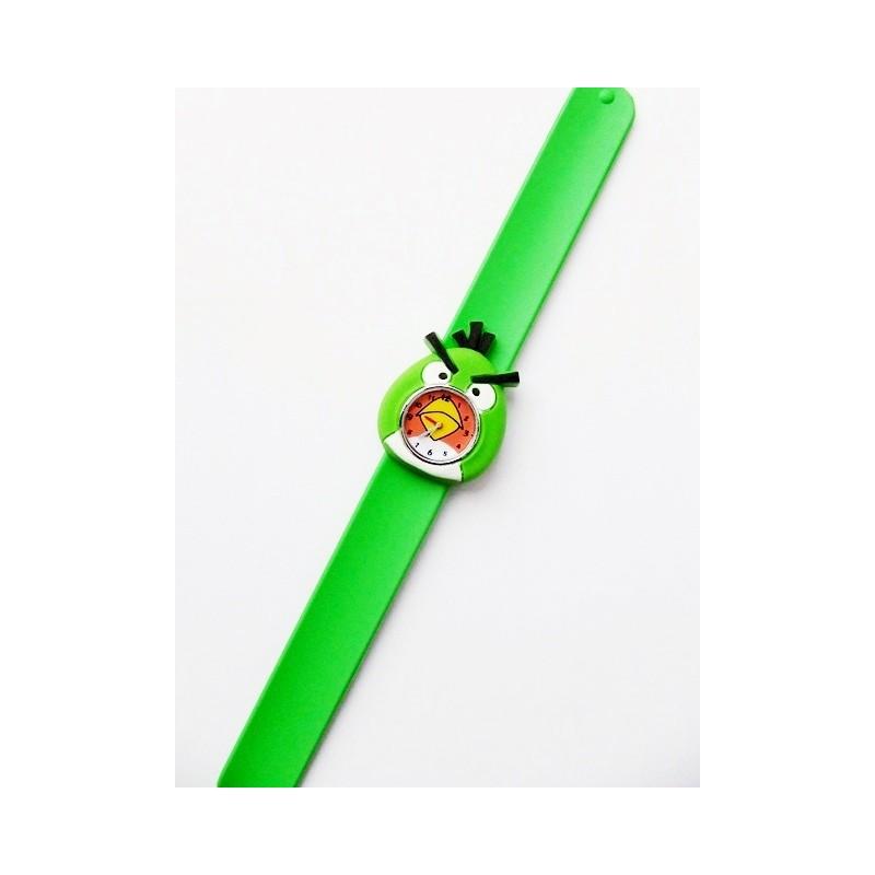 Czarny zegarek silikonowy Angry Birds