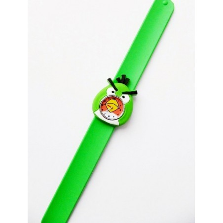 Schwarz Silicone Uhr Angry Birds