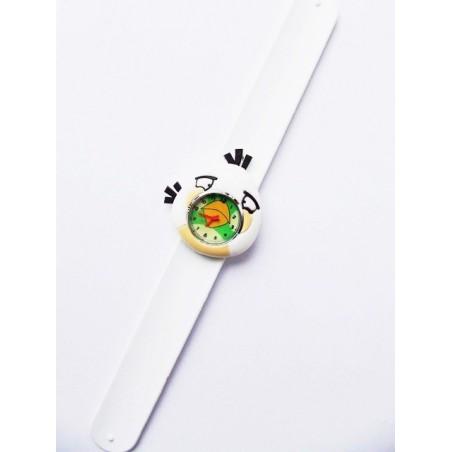 Biały dziecięcy zegarek silikonowy Angry Birds