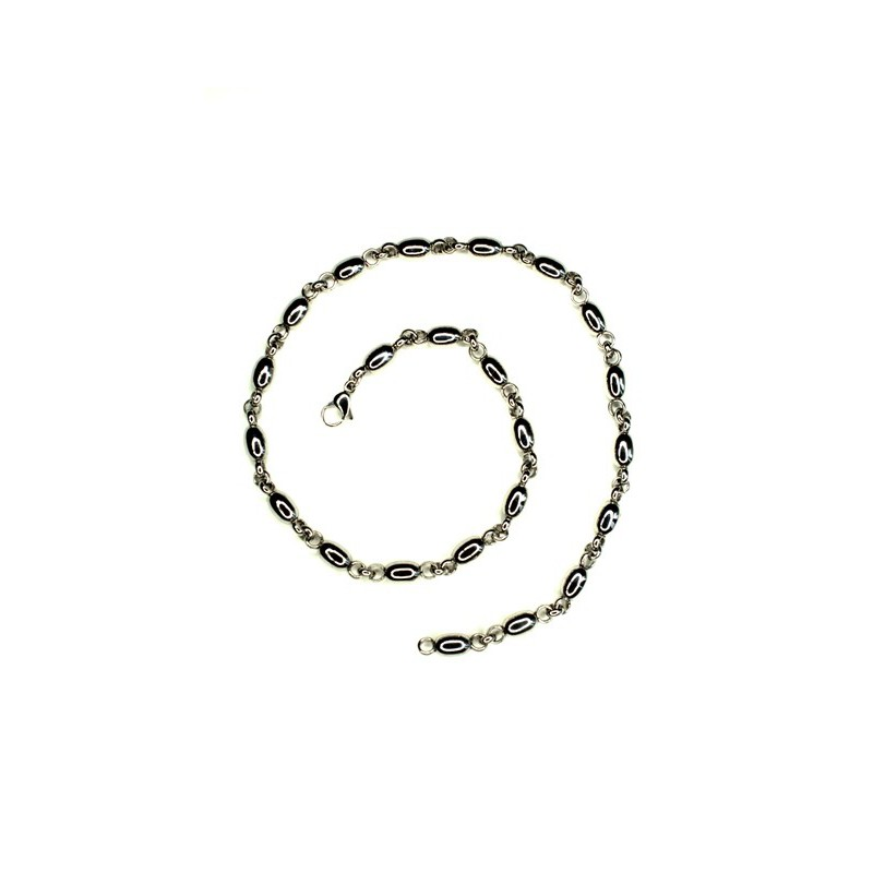 Náhrdelník oválky a kroužky z chirurgické oceli