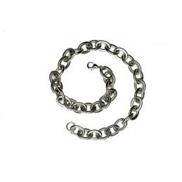 Große Edelstahl Halskette