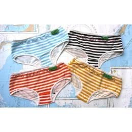Spodné nohavičky dievčenské, bavlna s potlačou, sada 4ks