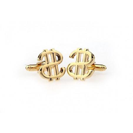 Manžetové knoflíčky obrácený zlatý dolar