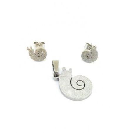 Schmuck-Set Ohrringe und Anhänger Schnecken