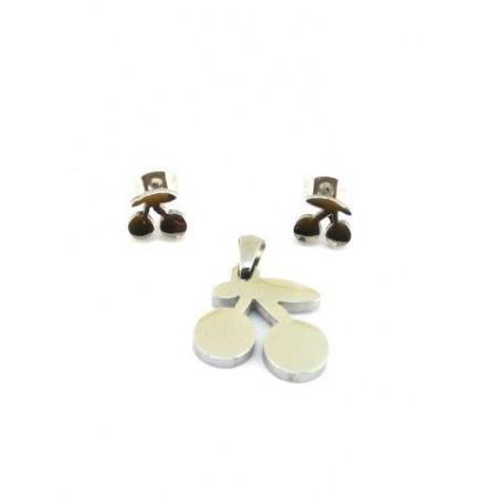 Sada šperků náušnic s přívěškem třešničky