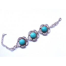 Armband mit türkisfarbenen Steinen