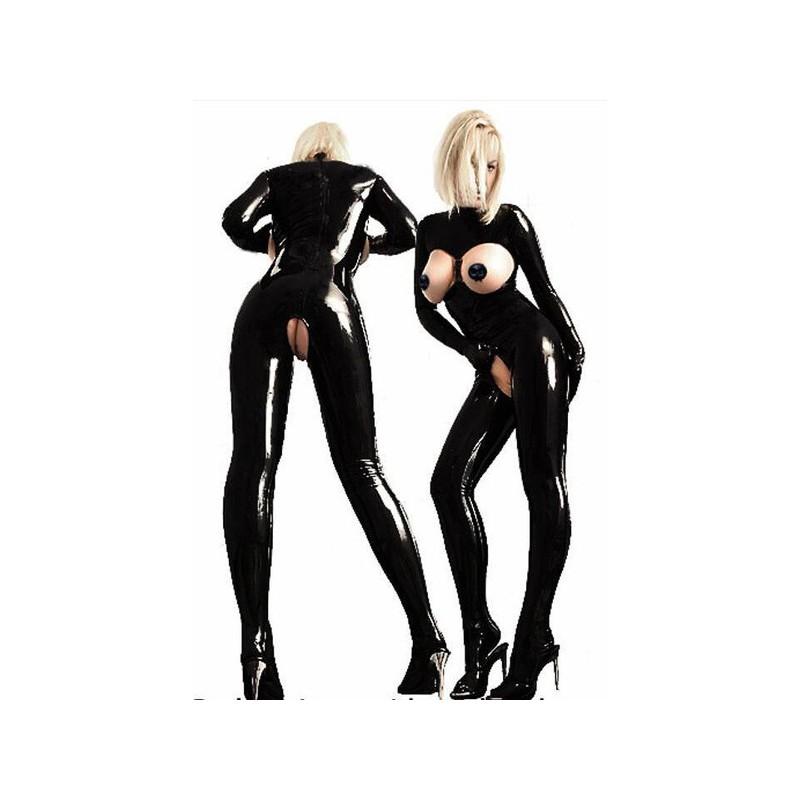 Sexy catsuit z vinylu