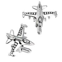 Spinki do mankietów samoloty i lotnictwo