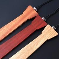 Drewniane krawaty składane